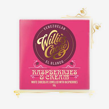 Raspberries and cream Chocolate