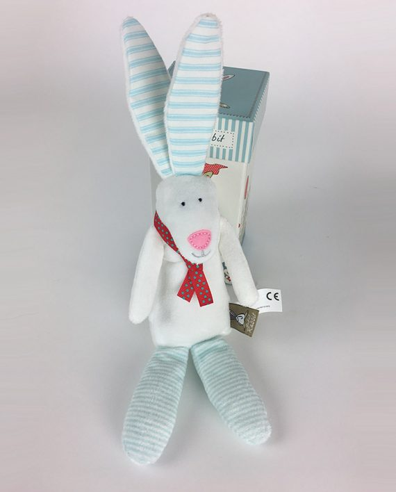 Bunny Rattle – blue