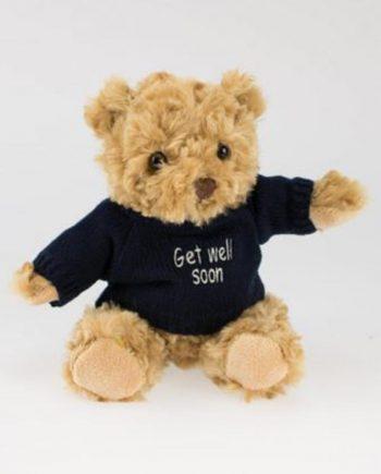 Get Well Soon Teddy Bear in Navy Jumper 1
