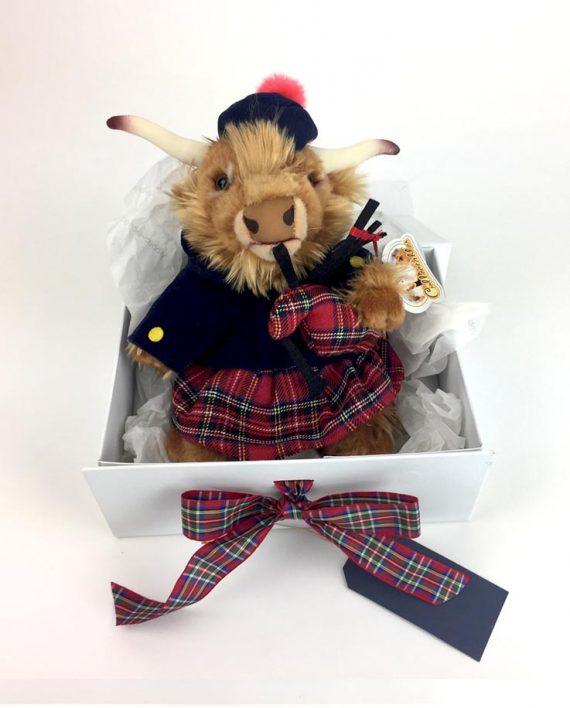 Highland Piper Cow Scottish Gift