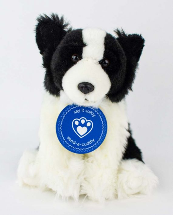 border collie soft toy dog
