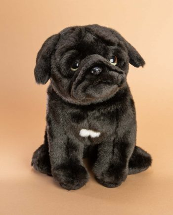 black pug soft toy gift idea