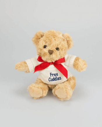Free Cuddles Teddy in White Jumper