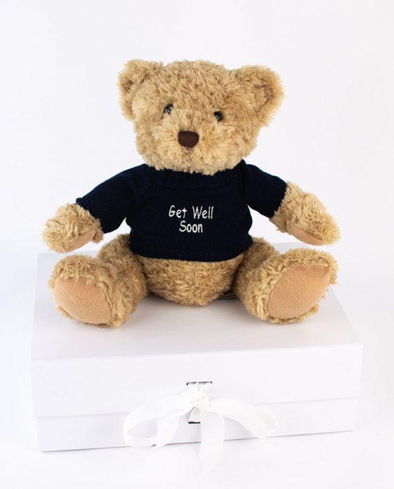 Get Well Soon Sherwood Bear in blue jumper