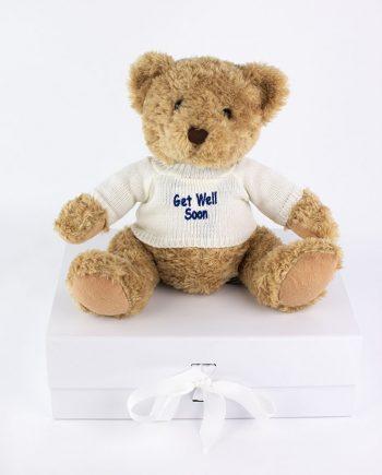 Get Well Soon Sherwood Bear in white jumper