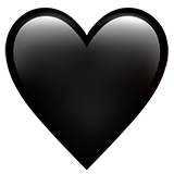 know the meaning of the black heart emoji