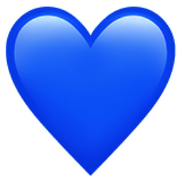 know your blue emoji heart