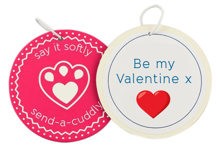 valentines message medal