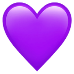 know your purple heart emoji