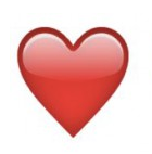 know your red heart emoji