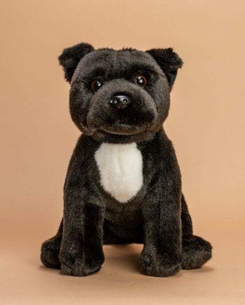 Black Staffordshire Bull Terrier Dog Soft Toy - Send a Cuddly