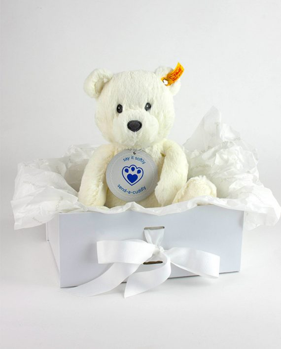 Steiff White Bearzy Teddy Bear