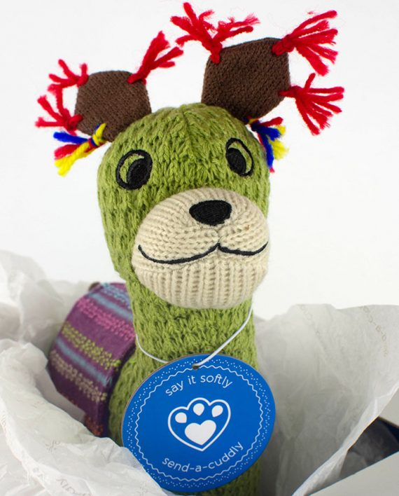 Knitted Llama soft toy