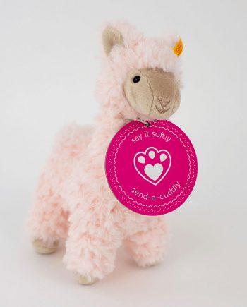 Steiff Luciana pink Llama soft toy