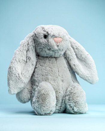Silver Grey Bunny Soft Toy - Send a Cuddly