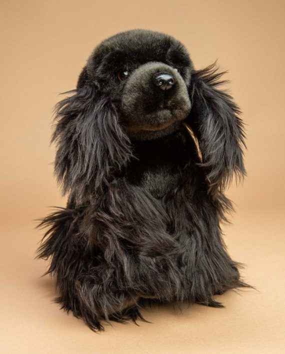 Black Cocker Spaniel Dog Soft Toy Gift - Send a Cuddly