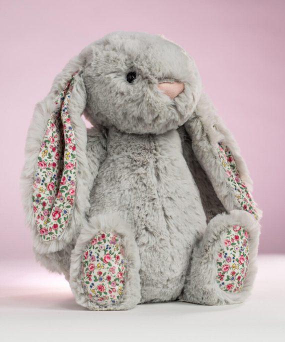 Jellycat Blossom Silver Bunny - Send a Cuddly