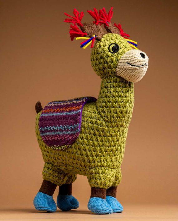 Knitted Llama Soft Toy Gift - Send a Cuddly