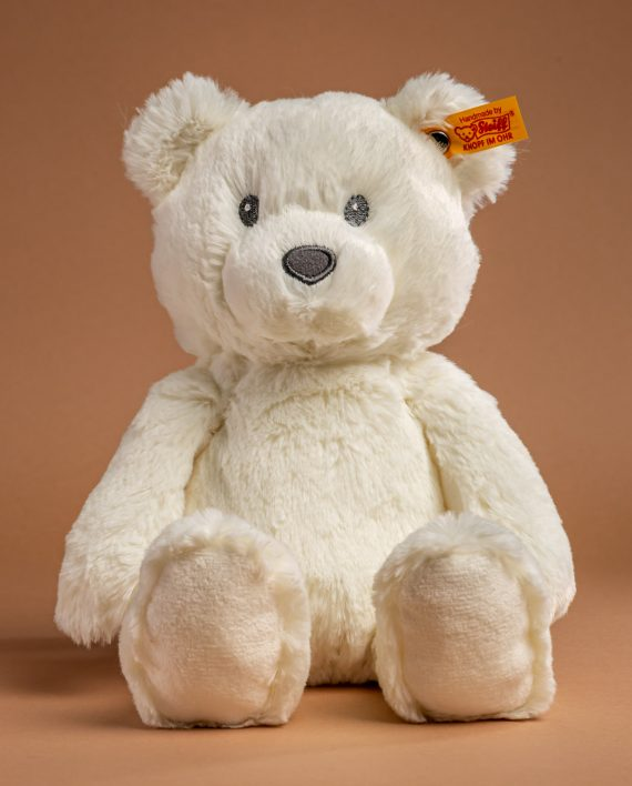Steiff White Bearzy Bear Soft Toy - Send a Cuddly