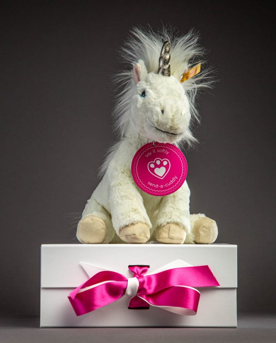 Steiff Unica Unicorn Soft Toy Teddy - Send a Cuddly