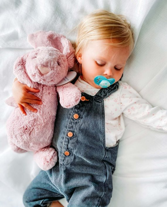 Soft Toy Pink Bunny and Baby - Send a Cuddly