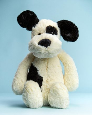 Black and Cream Puppy Soft Toy - Send a Cuddly