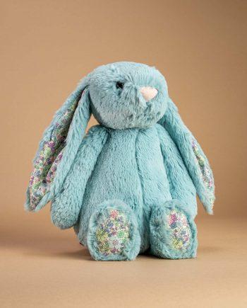 Jellycat Blossom Aqua Bunny soft toy gift - Send a Cuddly