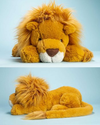 Large Louie Lion soft toy - Send a Cuddly