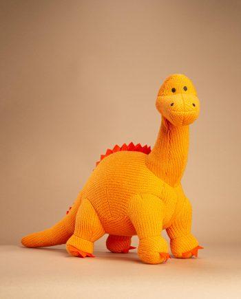 Large Orange knitted Diplodocus