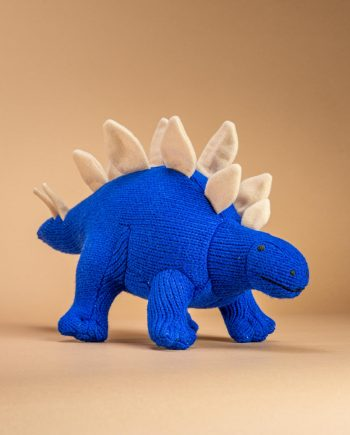Knitted Stegosaurus Toy