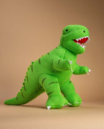Large Knitted T.rex toy