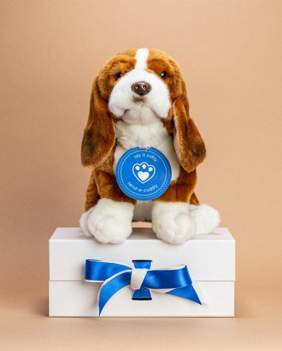 Bassett Hound Dog Soft Toy Gift - Send a Cuddly